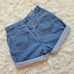 Vintage high rise jean shorts